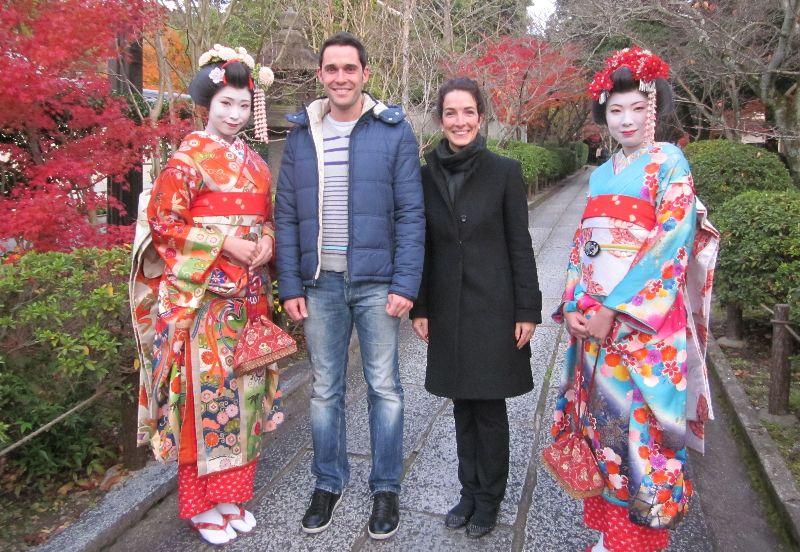 Con Geishas en Kioto